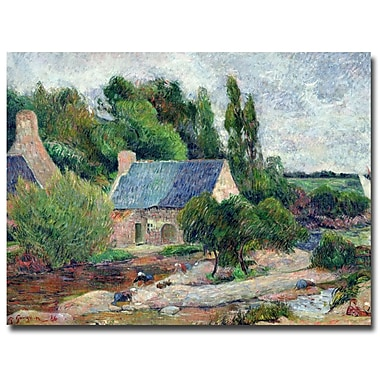 Trademark Fine Art Paul Gauguin 'Washerwomen at Pont-Aven, 1886' Canvas Art 18x24 Inches