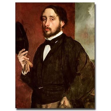 Trademark Fine Art Edgar Degas 'Self Portrait, 1862' Canvas Art