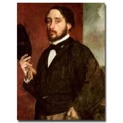 Trademark Fine Art Edgar Degas 'Self Portrait, 1862' Canvas Art