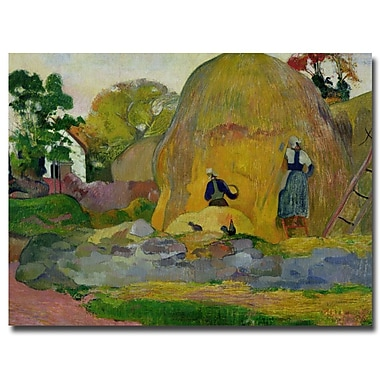 Trademark Fine Art Paul Gauguin 'Golden Harvest 1889' Canvas Art 24x32 Inches