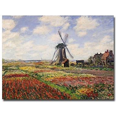 Trademark Fine Art Claude Monet 'Tulip Fields in Holland, 1886' Canvas Art