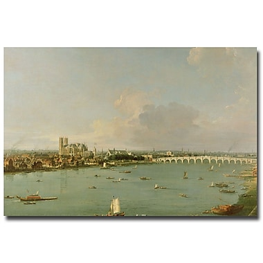 Trademark Fine Art Canaletto, View of the Thames from the South' Canvas Art