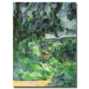 Trademark Fine Art Paul Cezanne 'Blue Landscape, 1903' Canvas Art 26x32 Inches