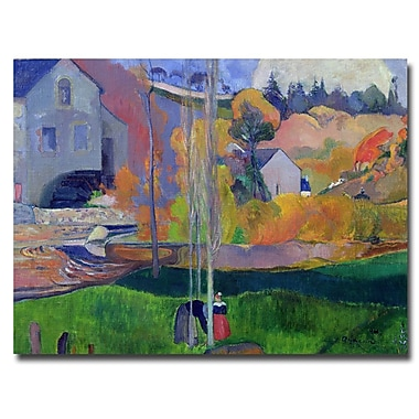 Trademark Fine Art Paul Gauguin Brittany Landscape-David Mill 1894' Canvas 18x24 Inches