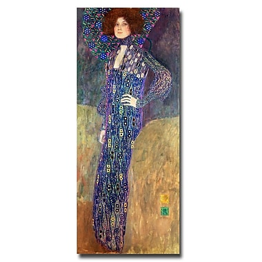 Trademark Fine Art Gustav Klimt, 'Emilie Floege' Canvas Art 14x32 Inches