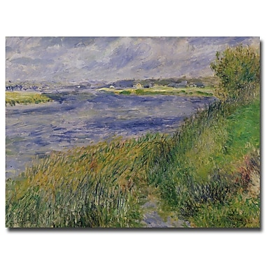 Trademark Fine Art Pierre Renoir 'The Banks of the Seine, Champrosay, 1876'