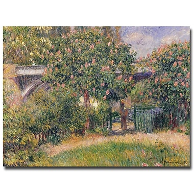 Trademark Fine Art Pierre Renoir 'Railway Bridge at Chatou, 1881' Canvas Art 18x24 Inches