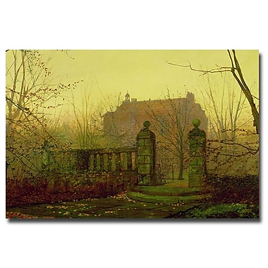 Trademark Fine Art John Atkinson Grimshaw 'Autumn Morning' Canvas Art 22x32 Inches
