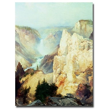 Trademark Fine Art Thomas Moran 'Grand Canyon of Yellowstone' Canvas Art