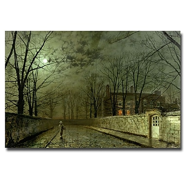 Trademark Fine Art John Atkinson Grimshaw 'Silver Moonlight 1880' Canvas Art