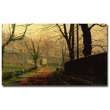 Trademark Fine Art John Grimshaw, 'Stapleton Park near Pontefract' Canvas Art 14x24 Inches