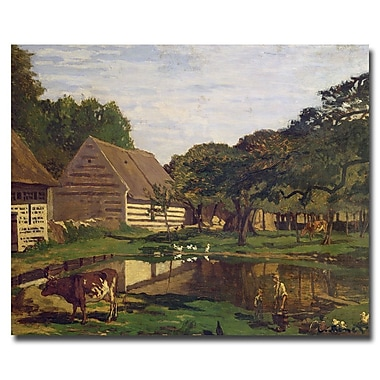 Trademark Fine Art Claude Monet 'A Farmyard in Normandy 1863' Canvas Art