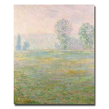 Trademark Fine Art Claude Monet 'Meadows in Giverny, 1885' Canvas Art