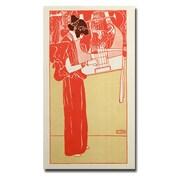 Trademark Fine Art Gustav Klimt 'Musik 1901' Canvas Art 18x32 Inches