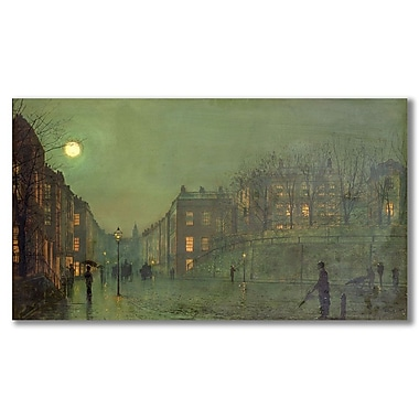 Trademark Fine Art John Grimshaw 'View of Hampstead' Canvas Art 14x24 Inches