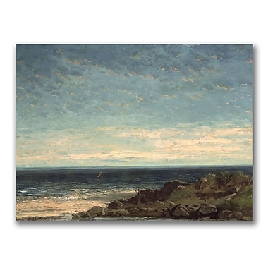 Trademark Fine Art Gustave Courbet 'The Sea' Canvas Art