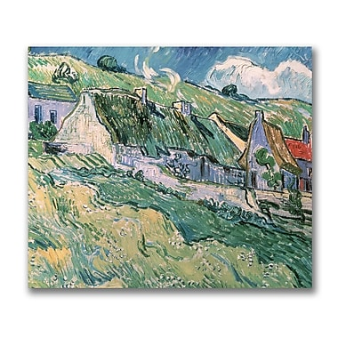 Trademark Fine Art Vincent Van Gogh 'Cottages at Auvers-sur-Oise' 'Canvas Art