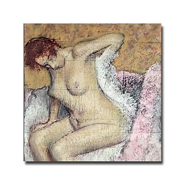 Trademark Fine Art Edgar Degas 'After Bath, 1886' Canvas Art 14x14 Inches