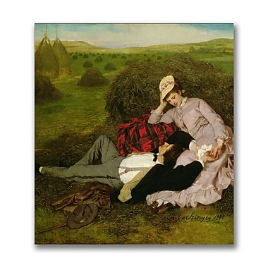 Trademark Fine Art Pal Szinyei Merse 'The Lovers, 1870' Canvas Art