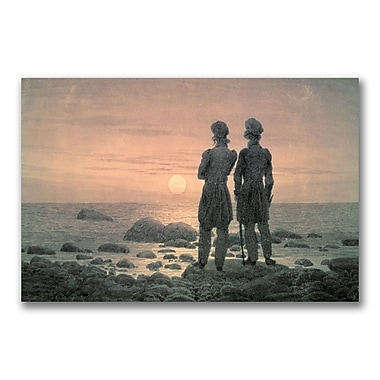 Trademark Fine Art Caspar David Friedrich 'Two Men by The Sea' Canvas Art