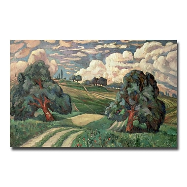 Trademark Fine Art Carl Edvard Diriks 'Fauve Landscape 1910' Canvas Art