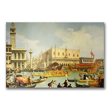 Trademark Fine Art Canatello 'The Betrothal of the Venetian Doge' Canvas Art