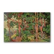 "Trademark Fine Art 24"" x 47"" Wooden Frame Fauve Landscape"