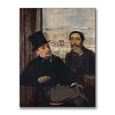 Trademark Fine Art Edgar Degas 'Self Portrait with Evariste' Canvas Art
