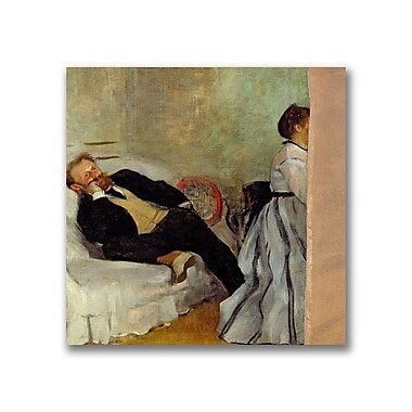 Trademark Fine Art Edgar Degas'Monsieur and Madame Edouard Manet' Canvas Art
