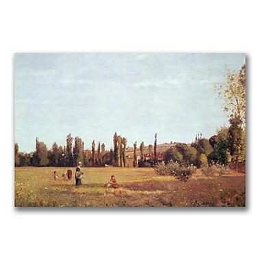 Trademark Fine Art Camille Pissarro'La Varenne de St. Hilaire 1863' Canvas Art