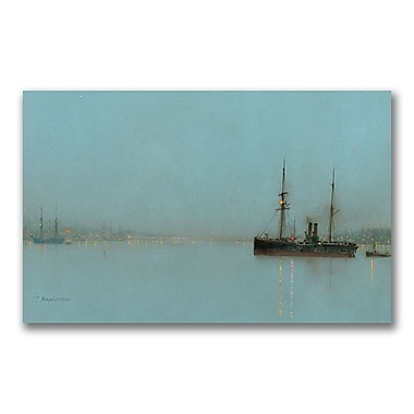 Trademark Fine Art John Grimshaw 'Port Light' Canvas Art 24x47 Inches