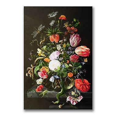 Trademark Fine Art Jan Davidsz. de Heem 'Still Life of Flowers' Canvas Art