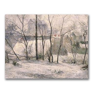 Trademark Fine Art Paul Gauguin 'Winter Landscape' Canvas Art 35x47 Inches