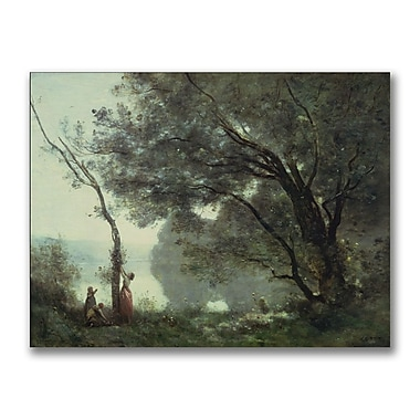Trademark Fine Art Jean Baptiste Corot 'Recollections of Mortefontaine' Canvas
