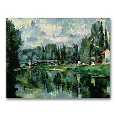 Trademark Fine Art Paul Cezanne 'The Banks of the Marne at Creteil' Canvas Art 35x47 Inches