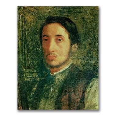 Trademark Fine Art Edgar Degas 'Self Portrait as a Young Man' Canvas Art