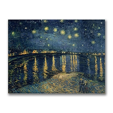 Trademark Fine Art Vincent van Gogh 'The Starry Night II' Canvas Ar 35x47 Inches