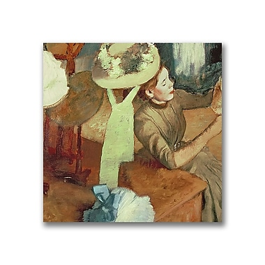 Trademark Fine Art Edgar Degas 'The Millinery Shop' Canvas Art 18x18 Inches