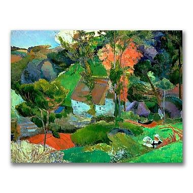 Trademark Fine Art Paul Gauguin 'Landscape at Pont Aven' Canvas Art 24x32 Inches