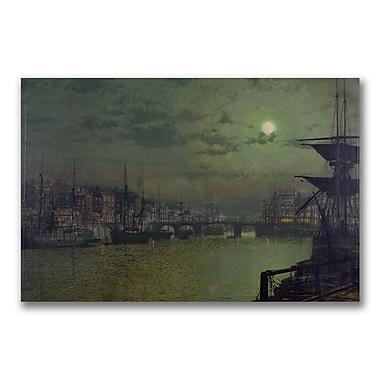 Trademark Fine Art John Grimshaw 'Baiting the Lines, Whitby' Canvas Art 16x24 Inches