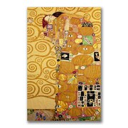Trademark Fine Art Gustav Klimt 'Fulfillment' Canvas Art 18x32 Inches