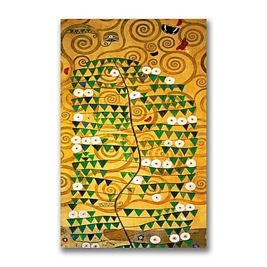 Trademark Fine Art Gustav Klimt 'Tree of Life' Canvas Art 18x32 Inches