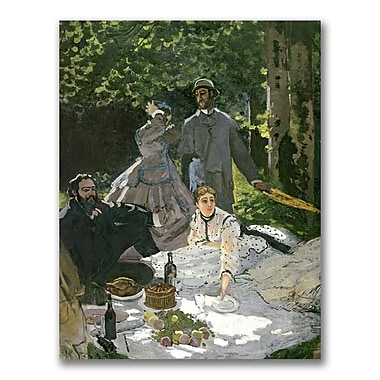 Trademark Fine Art Claude Monet 'Dejeuner sur l'Herbe Chailly' Canvas Art