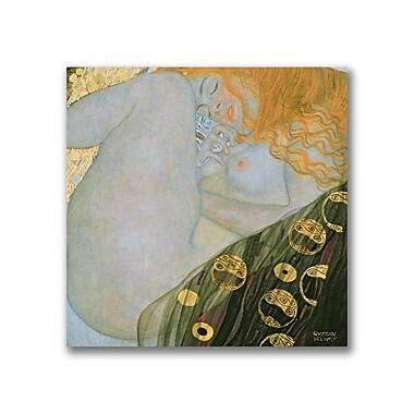 Trademark Fine Art Gustave Klimt 'Danae, 1907-08' Canvas Art