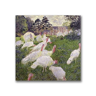 Trademark Fine Art Claude Monet 'The Turkeys at the Chateau' Canvas Art