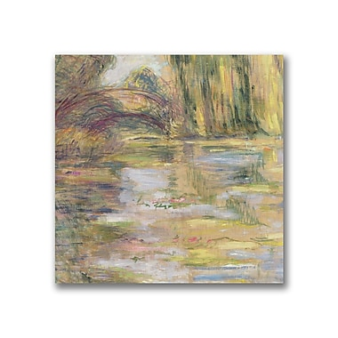 Trademark Fine Art Claude Monet 'Waterlily Pond, The Bridge' Canvas Art
