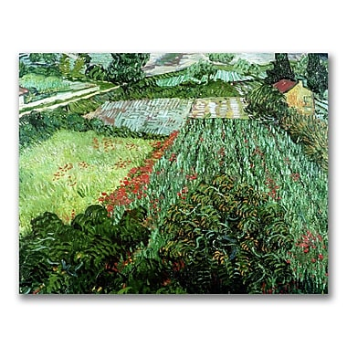 Trademark Fine Art Vincent Van Gogh 'Field with Poppies' Canvas Art