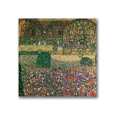 Trademark Fine Art Gustav Klimt 'Country House' Canvas Art