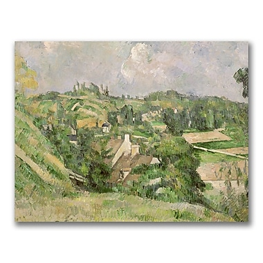 Trademark Fine Art Paul Cezanne 'Auvers-sur-Oise' Canvas Art 18x24 Inches