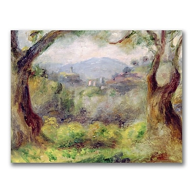 Trademark Fine Art Pierre Renoir 'Landscape at Les Collettes' Canvas Art